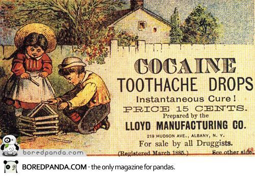 Goccie di cocaina per il mal di denti..  Cura istantanea!